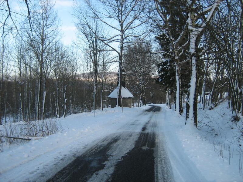 Pohled na Salmovskou kapli? ku v zim?