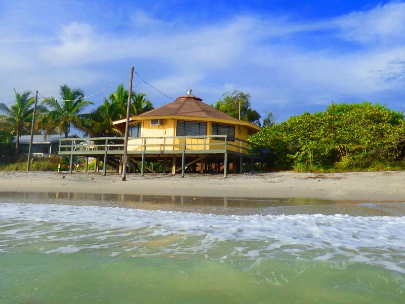 The Round House sits right ON the beach