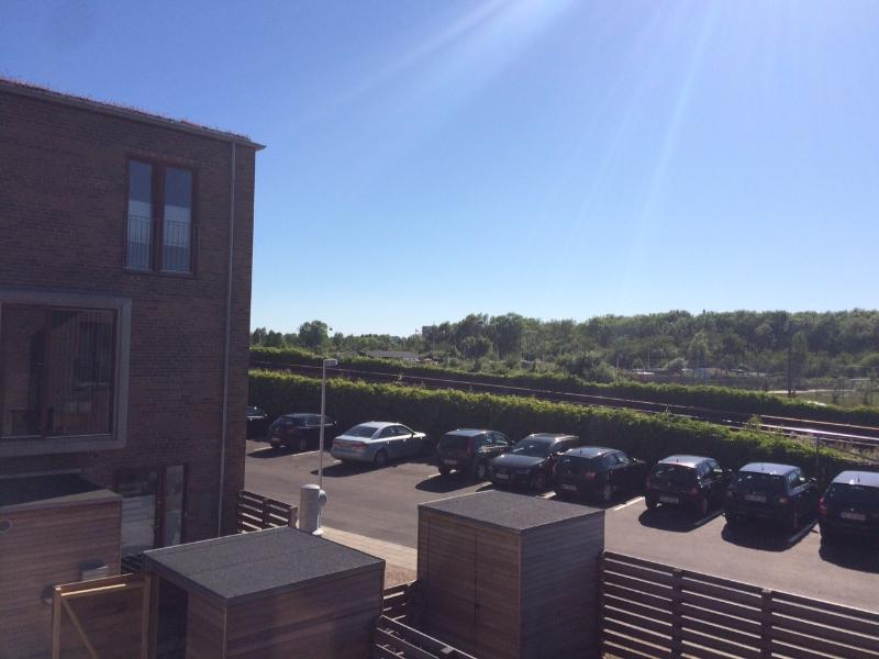View from the 2nd floor over the protected nature area, Amager Commons (Amager Fælled)