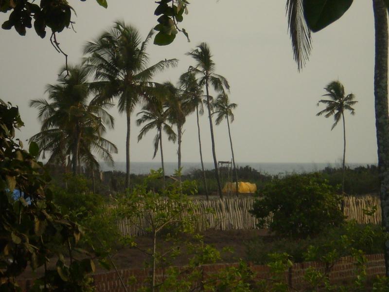 Vista al mar desde el balcón.