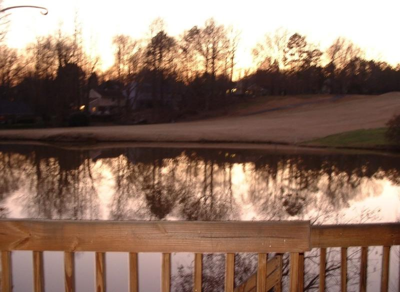 Back Deck overlooking golf course
