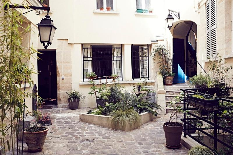 the charming courtyard