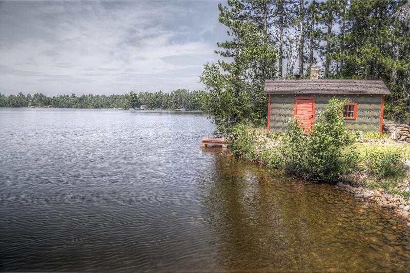 sauna view from dock