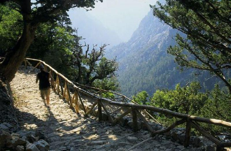 Samaria Gorge. Europe's largest gorge. This National Park is 18kms long with unbelievable natural be