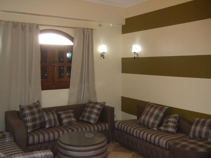 Large comfortable sitting area with satellite TV