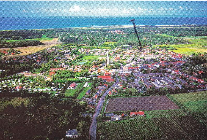 Oostkapelle Panorama, arrow indicates the property.