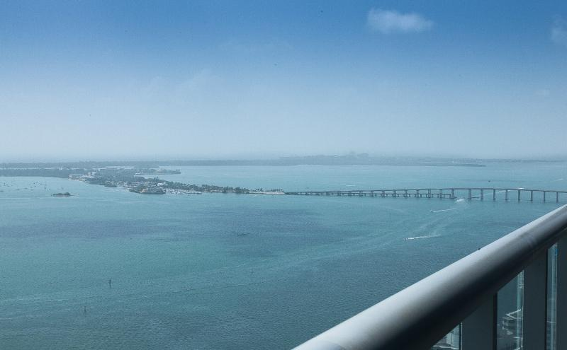 Biscayne Bridge to Virginia Key and Key Biscayne, from your balcony