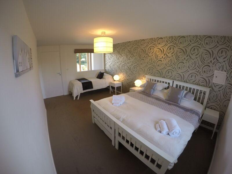 Flexible bedroom with a superking bed plus a single or 2 superkings or 3/4 singles
