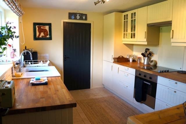 fully equipped kitchen and larder