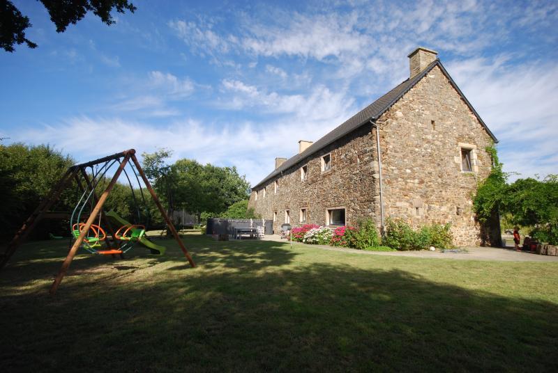 playarea at the rear of the farmhouse