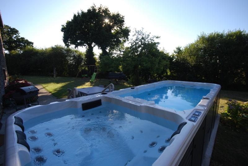 Swim Spa - Jacuzzi Spa at one end and a heated pool at the other