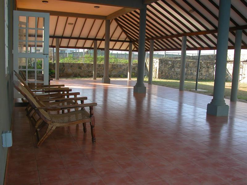large patio for yoga, or dancing