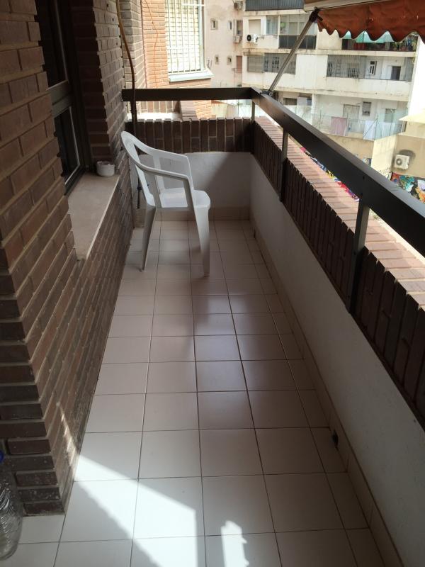 Zona del balcón donde este permitido fumar