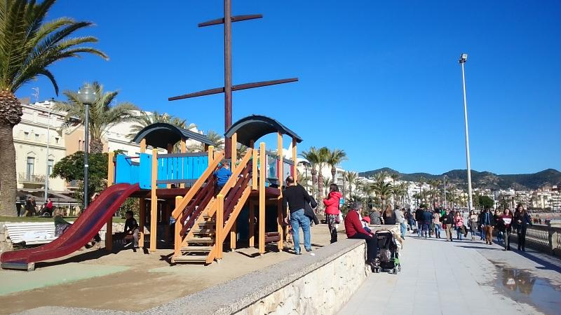 Play ground in the promenade