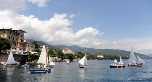Regatta of traditional wooden boats
