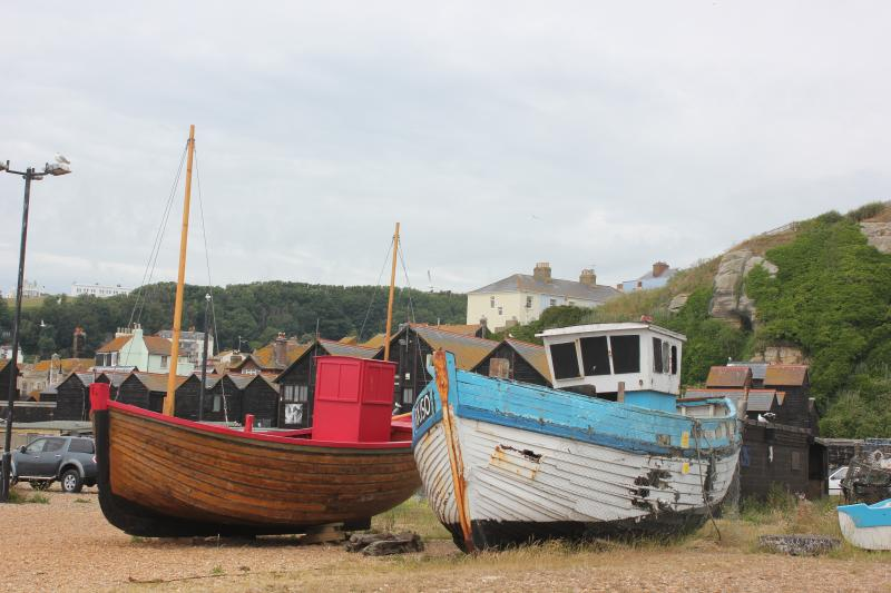 Fishing boats on beach 5 minutes walk from Tackleway