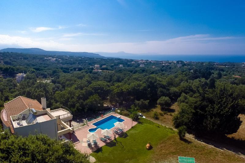 Aerial photo of the villa