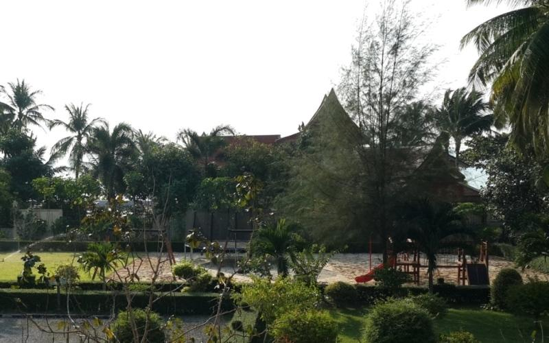 The view of the resort from the balcony