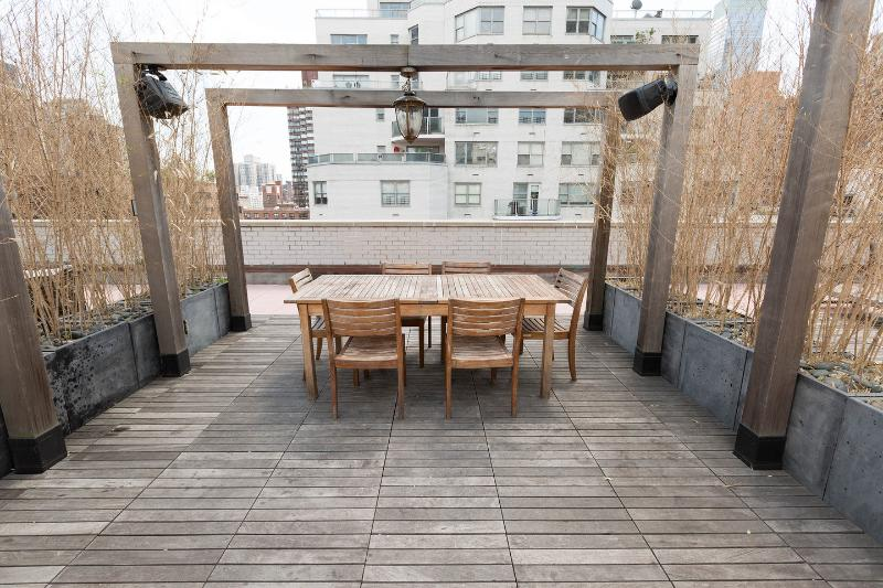 Dining table on Rooftop Terrace