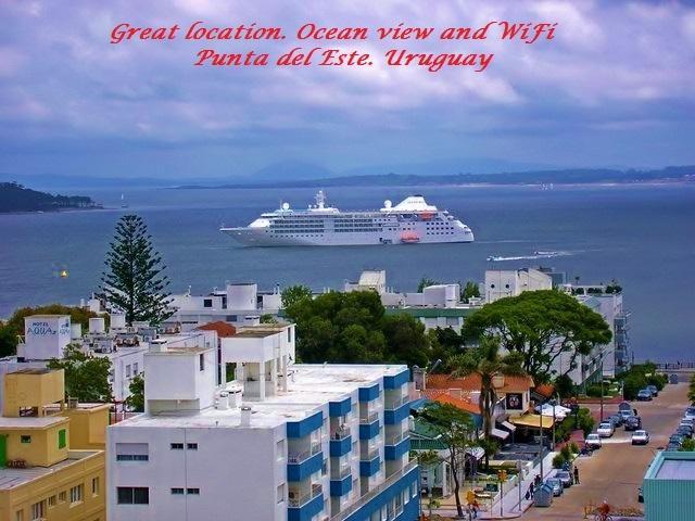 Vista al mar en el centro de la ciudad. Garaje-08, location de vacances à Maldonado Department