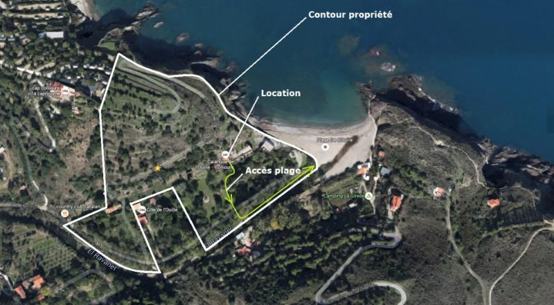 The Property and its direct access to the beach