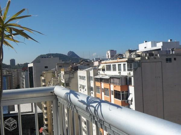 View of the world-famous Sugar Loaf mountain from the terrace