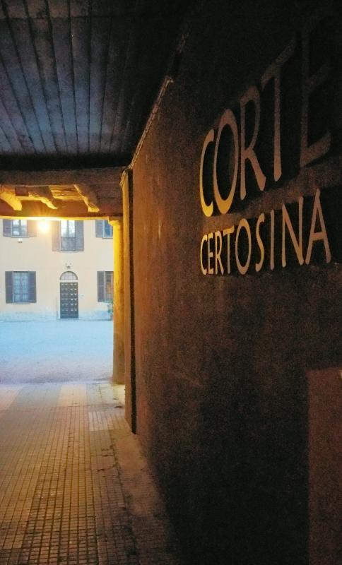 L'entrata della Corte Certosina