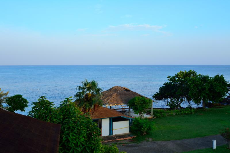 View from the rear balcony overlooking the ocean.