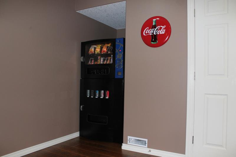 Vending machine in basement