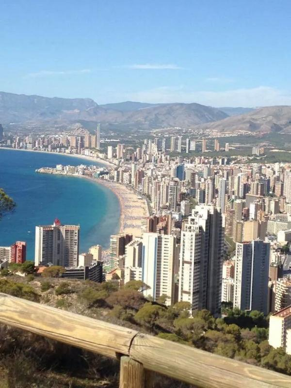 Beautiful Benidorm as seen from the Cross high above the town