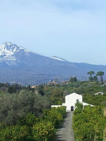 The house and Mt. Etna