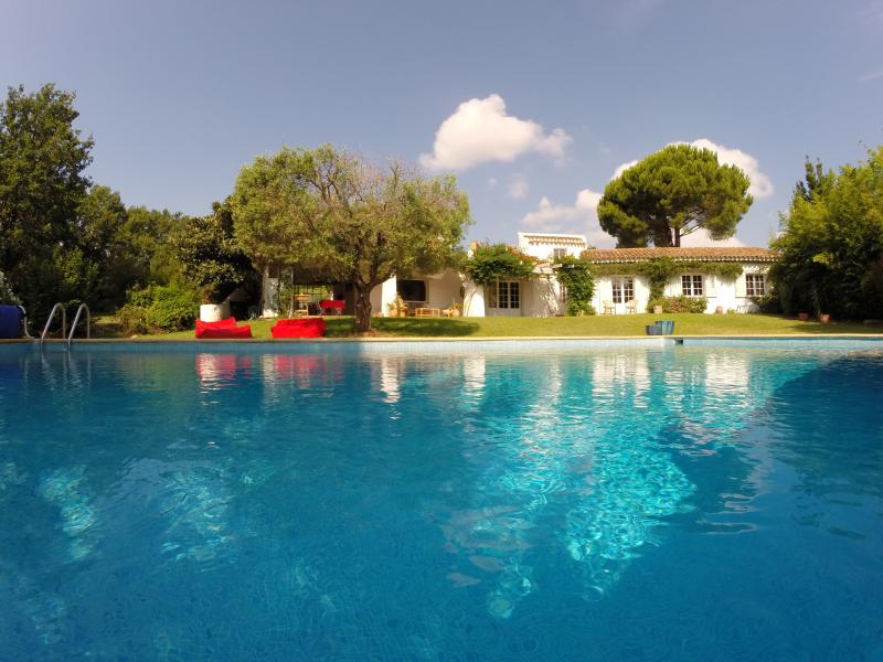 the large and heated swimming pool