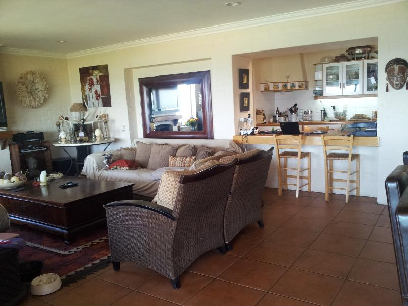 The open plan kitchen looking onto the living area