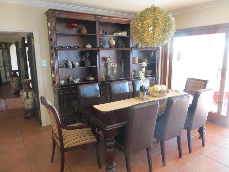 beautiful dining area with large table