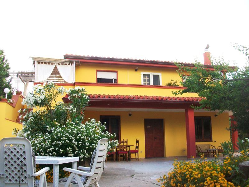 Villa exterior façade