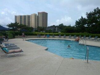 our pool just behind our condo