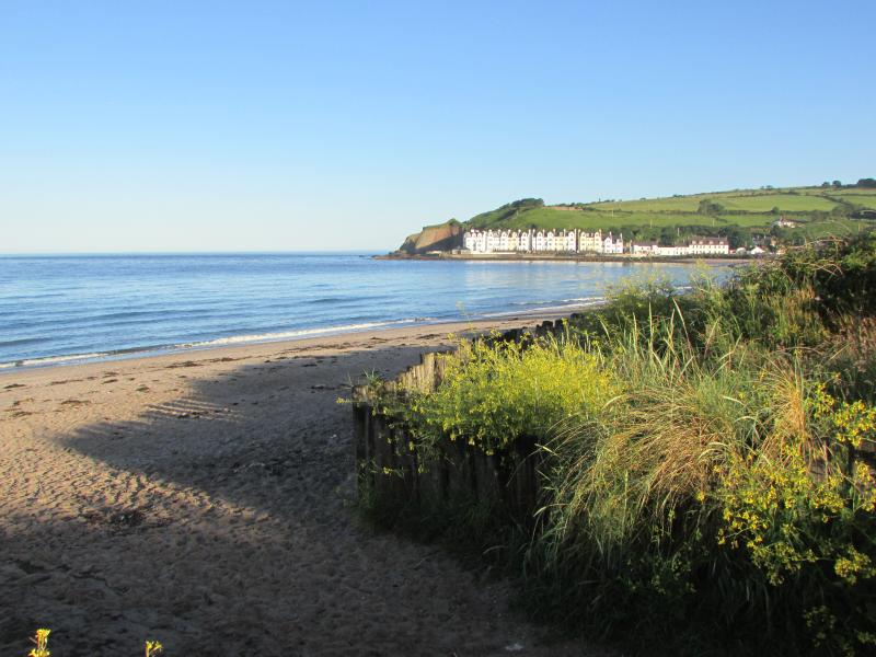 View of the apartments from Cushendun beach