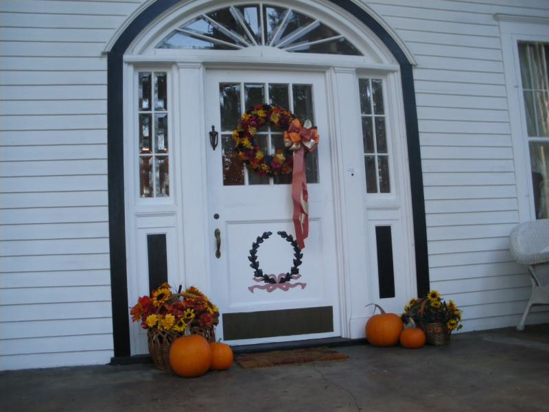 Front door in Fall
