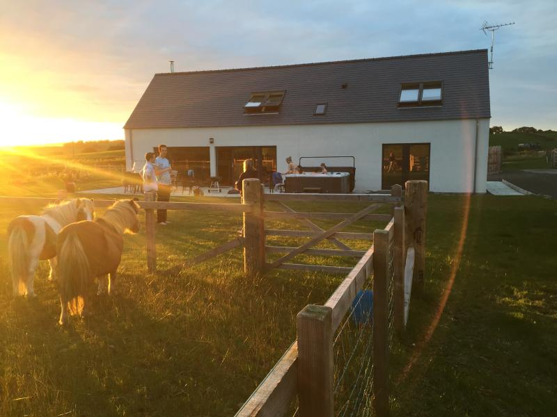 Sunset at The Longhouse.