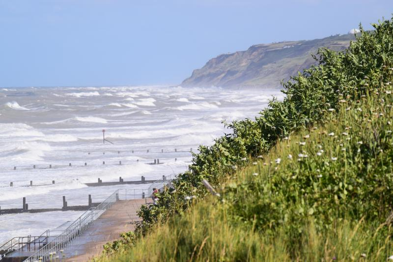 View from cliff path towards Overstrand