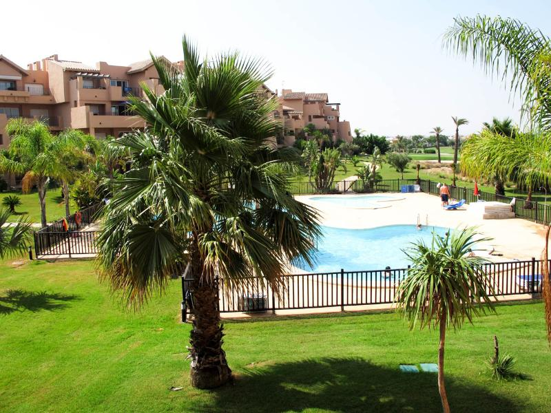 View of the pool from the large terrace