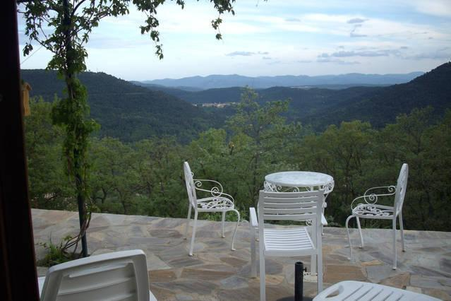 terrace with view to hills