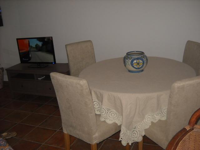 Table in the dining room area