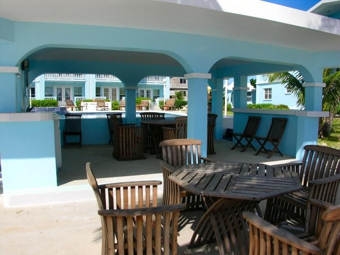 Covered outdoor dining/grill area