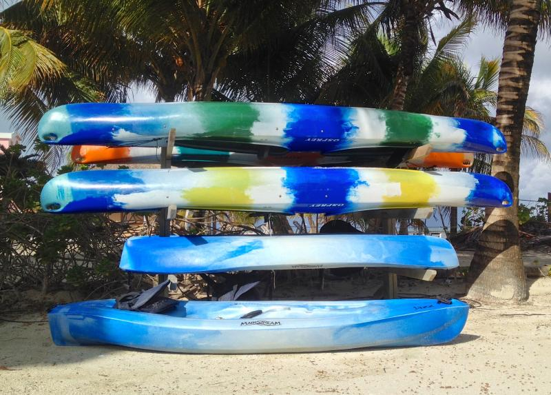 Single & double kayaks available to guests