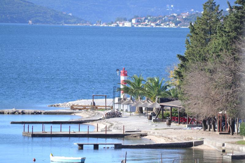 Beach Ponte Seljanovo public beach close to the apartments. Bayview Apartments Tivat Montenegro