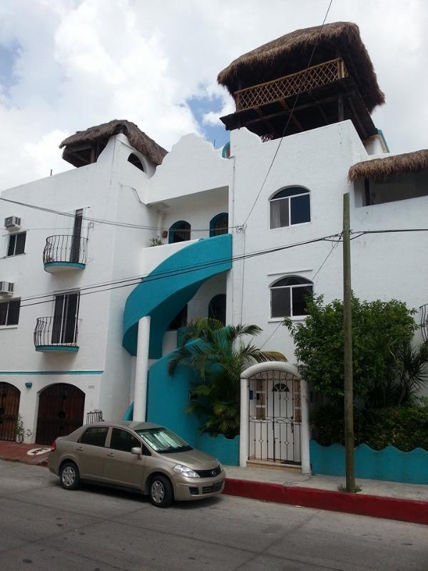 Vista frontal de edificio