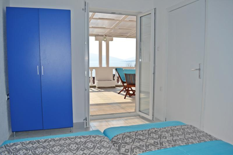 Sea view from the bedroom. Bayview Apartments Tivat Montenegro