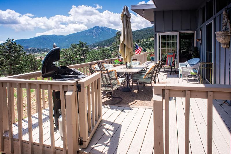 Deck dining with a view