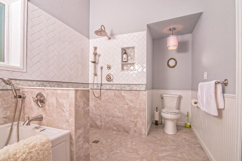 New Master bathroom. Shower.